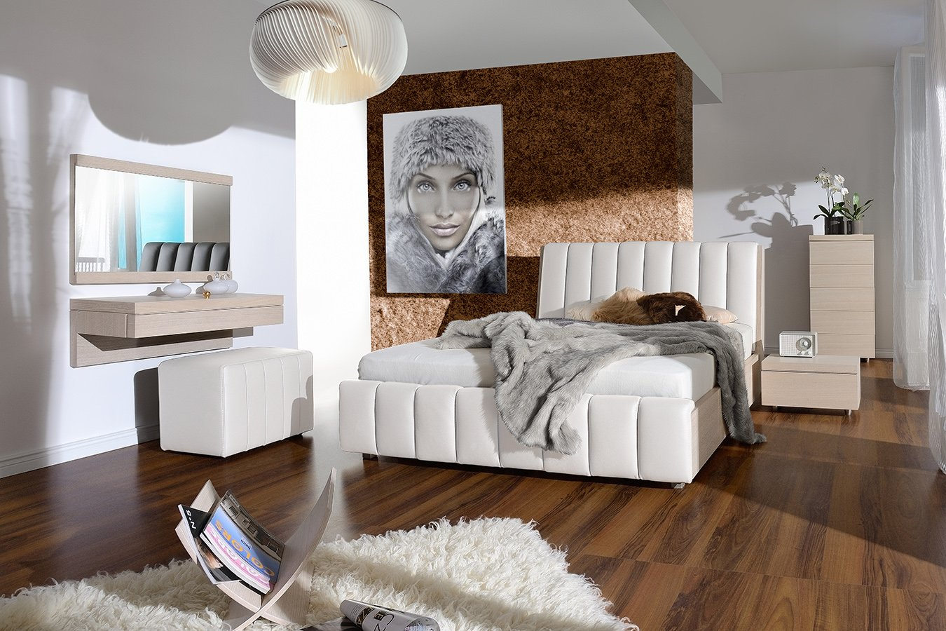 test3 Спальня Romance (Кожа Bianco)