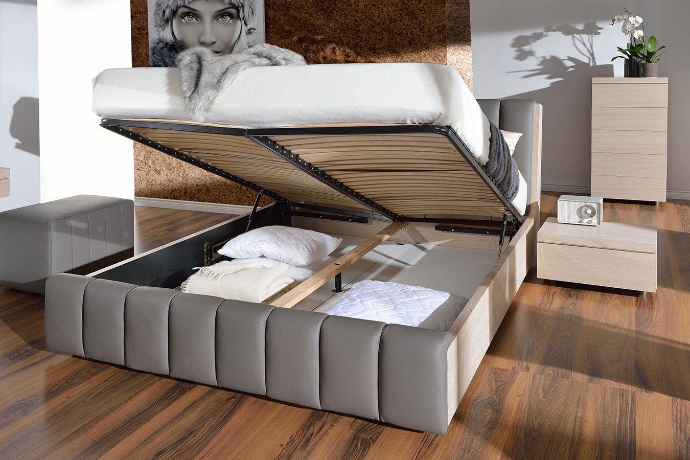 test3 Кровать Romance с ящиком для белья