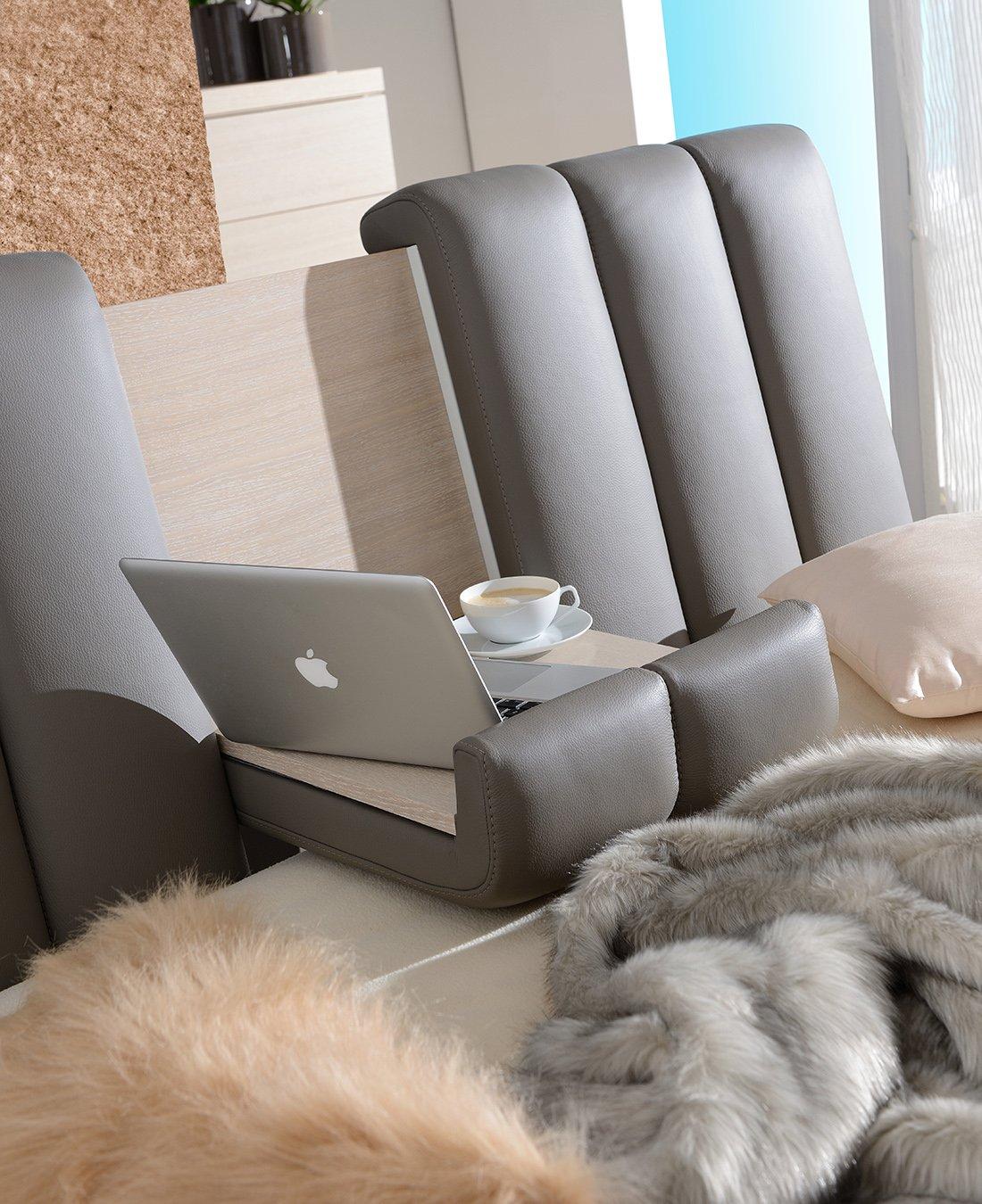 test1 Кровать Romance (Кожа Smog)
