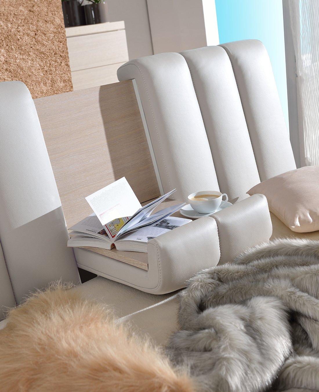 test1 Кровать Romance (Кожа Bianco)
